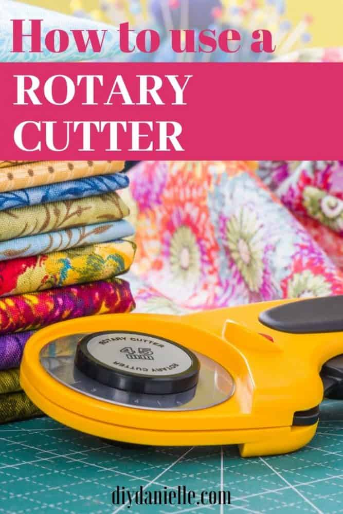 Learn how to a use a rotary cutter to help make sewing faster and easier- as well as the safety rules important to using one!