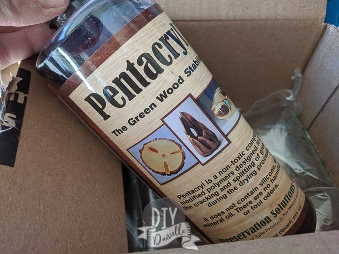 Pentacryl that I ordered to help prevent my peach tree wood from splitting.