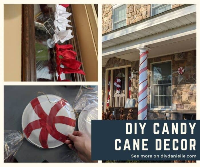 DIY Candy Cane Decor: 3 projects for your front porch that look like Christmas candy.