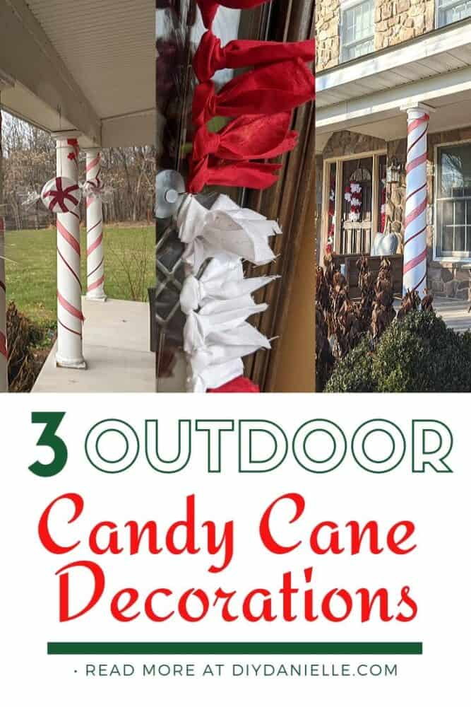 3 Candy themed outdoor Christmas decorations!