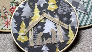 Easy DIY Embroidery Hoop Nativity Scene That's No Sew