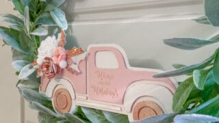 DIY Christmas Truck Wreath