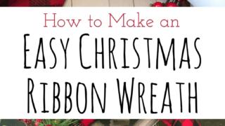 Easy Christmas Ribbon Wreath