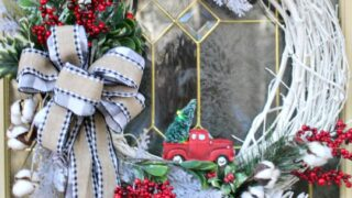 How To Make A Fun Little Red Truck Christmas Wreath