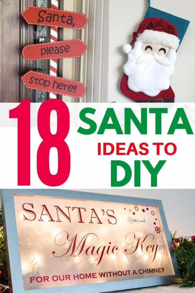 18 Santa Claus ideas to DIY for your holiday decor!
