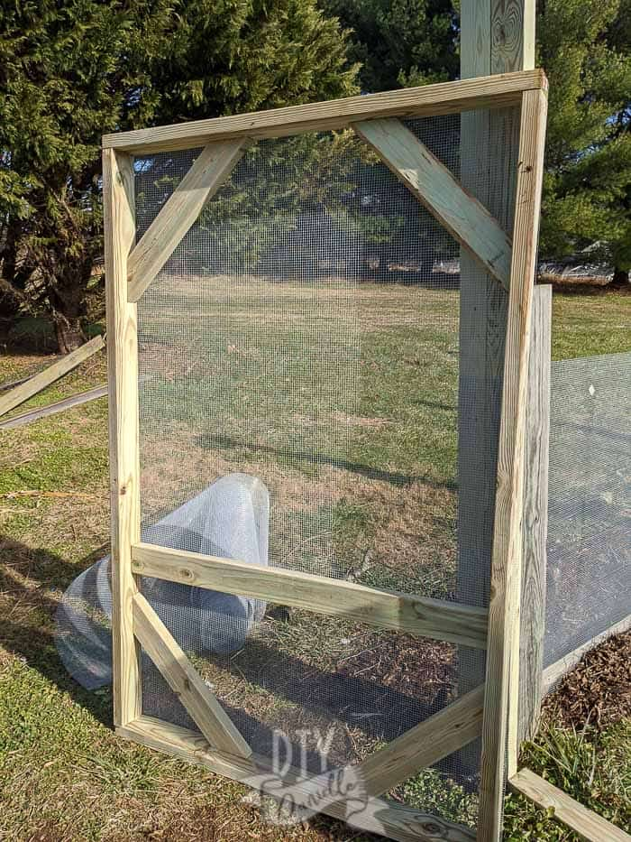 """6' door for the duck run with 1/4"""" hardware cloth"""
