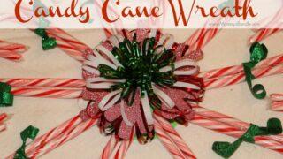 Candy Cane Wreath: A DIY Christmas Craft