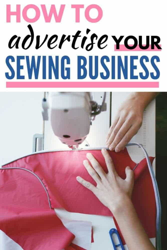 How to advertise your sewing business such as a fabric co-op, pattern company, or blog.