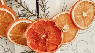 Minimal Nordic Style Dried Orange Wreath