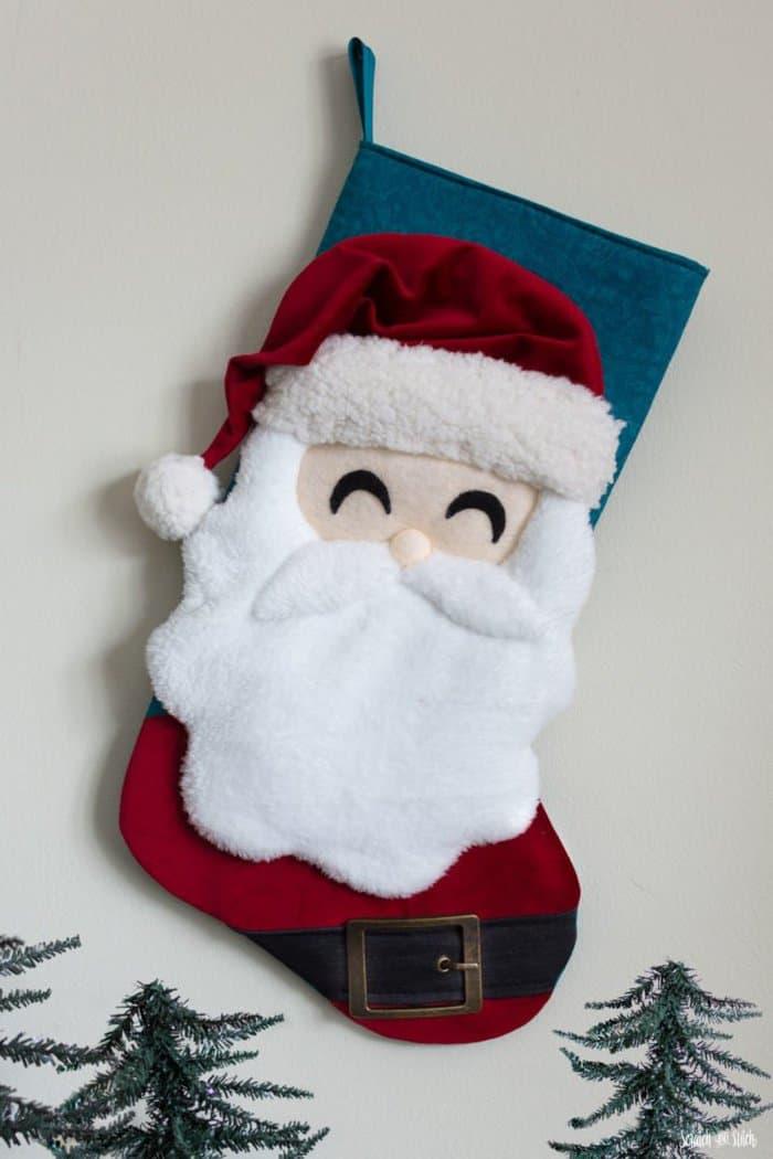 Santa Christmas Stocking Sewing Pattern