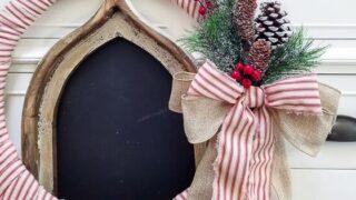 Make a Farmhouse Christmas Wreath for $10