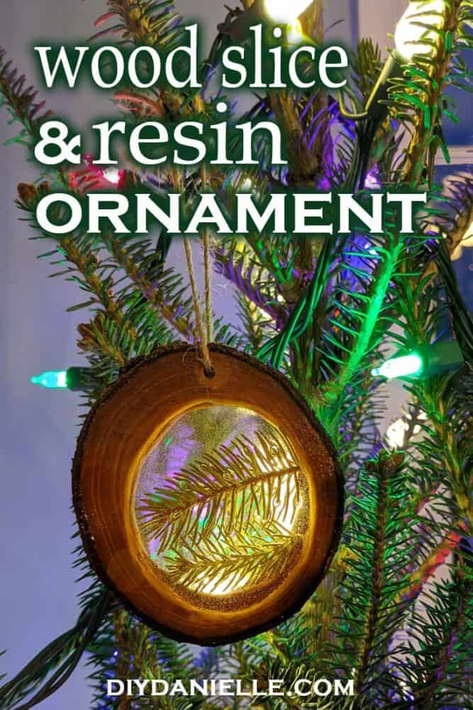 Preserve a piece of each Christmas tree with this DIY wood slice & resin ornament.