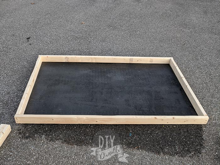 Main frame to surround a 4x6 stall mat.
