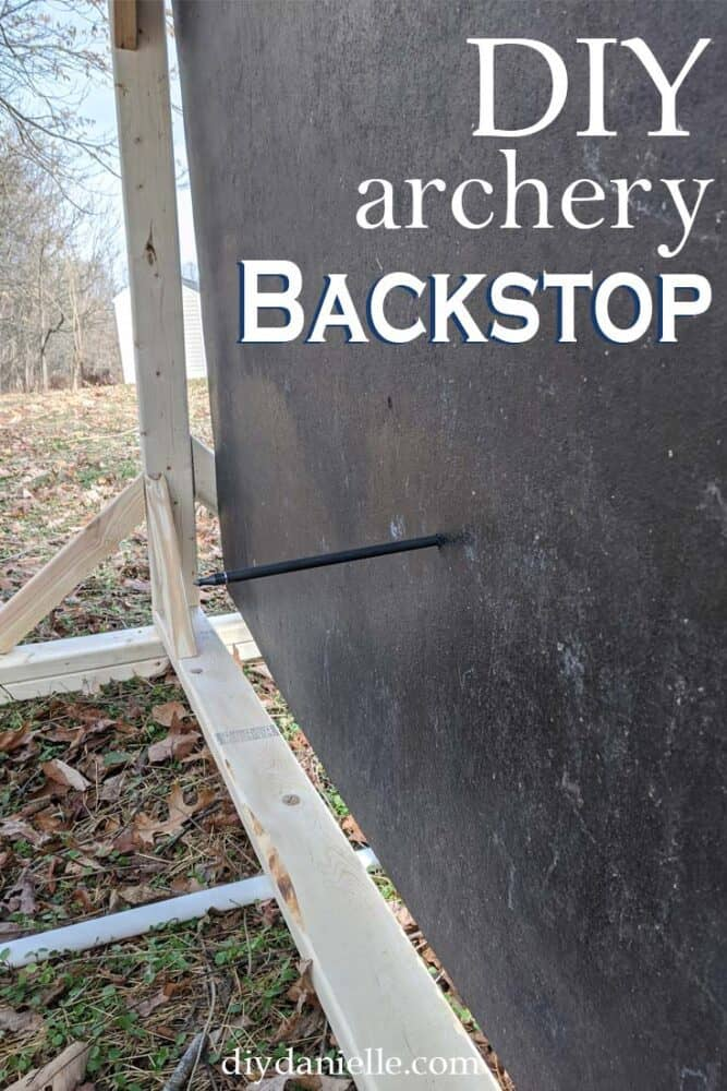 DIY archery backstop to keep arrows from getting lost.