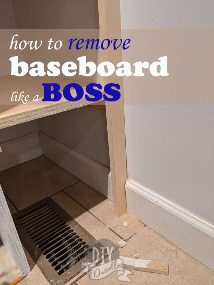 How to remove baseboard LIKE A BOSS. Trim inserted in a section that has been cut in the baseboard.