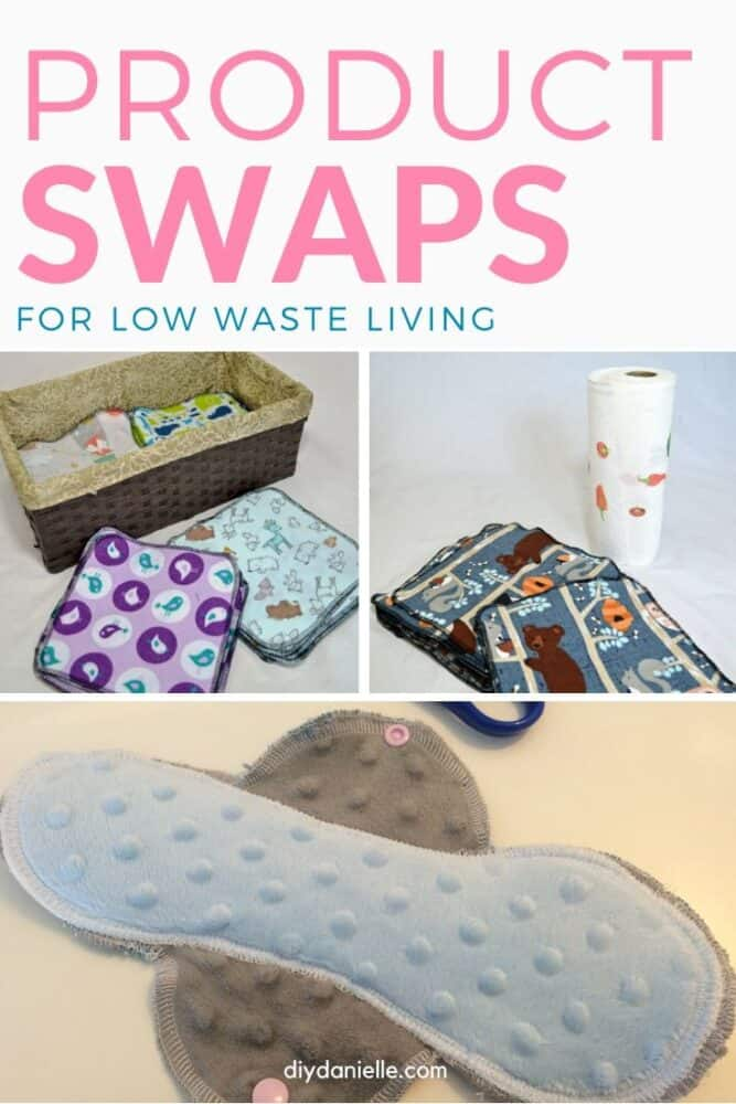 15+ product swap ideas for low waste living.