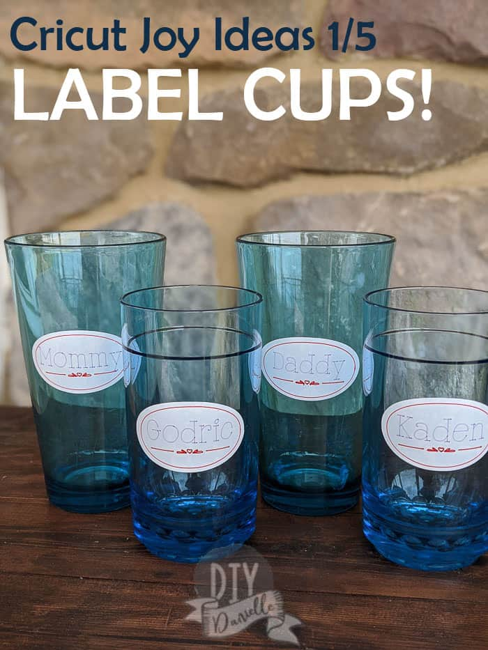 Cricut Joy Ideas 1/5: Labeling Cups to keep track of whose cup is whose. Use less cups during your day!