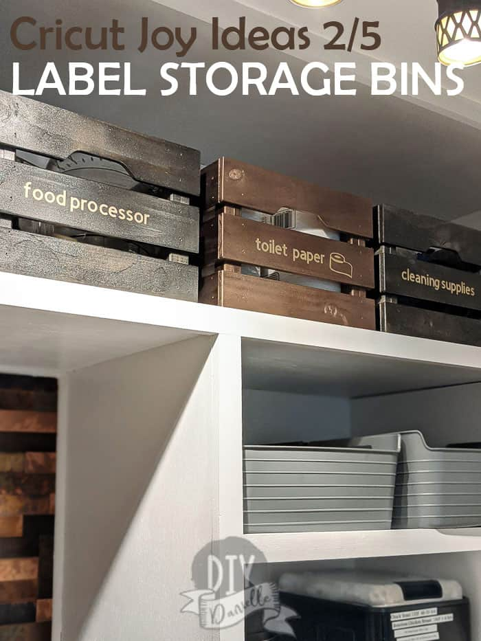 Cricut Joy Ideas 2/5: Labeling Storage Bins in the Laundry and Mudroom