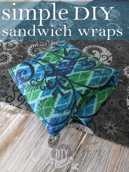 how to make simple DIY sandwich wraps- none of the frills, just an easy tutorial!