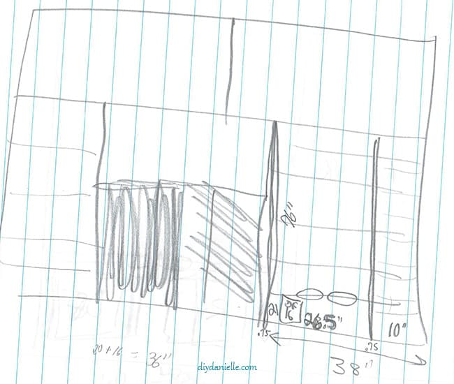 Pretty basic sketch for our laundry room.