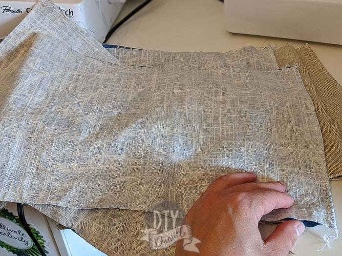 Fold and sew right sides together along short edge of the sides.