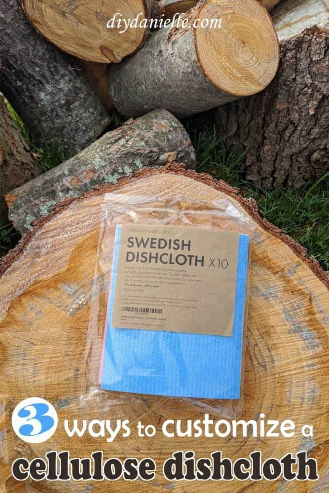 3 ways to customize a cellulose dishcloth (Swedish dishcloth)
