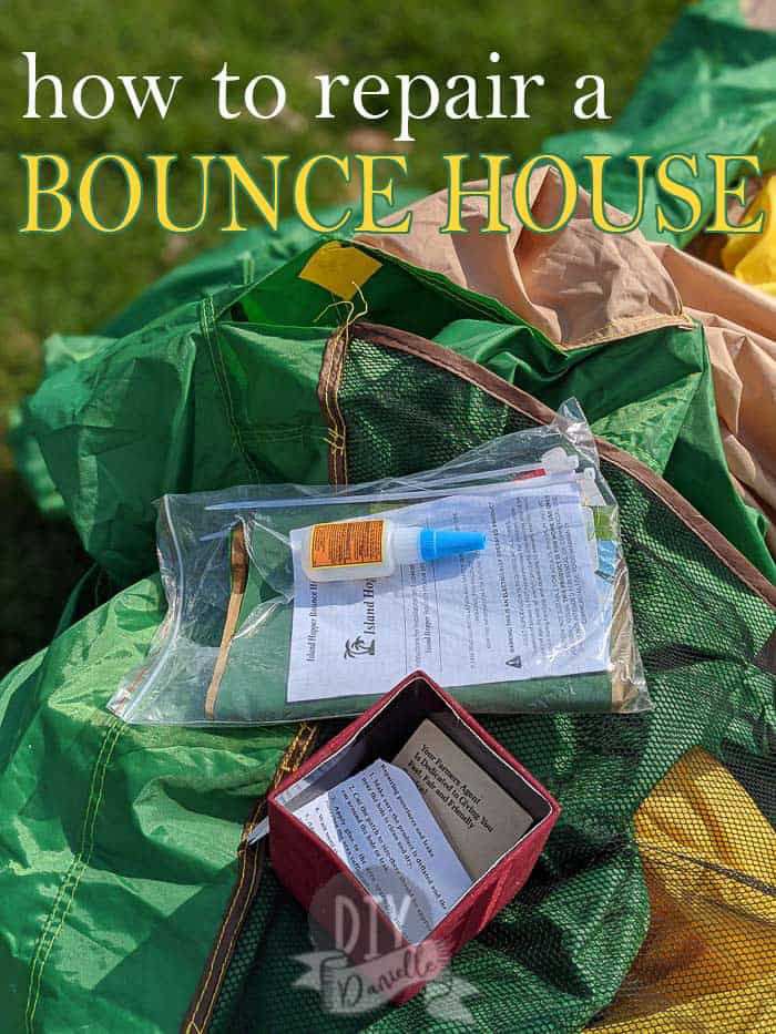 How to repair a bounce house. These can be sewn and patched! Learn how here!