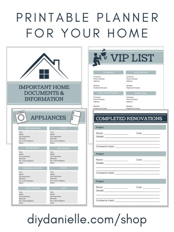Printable Planner for Home Renovations