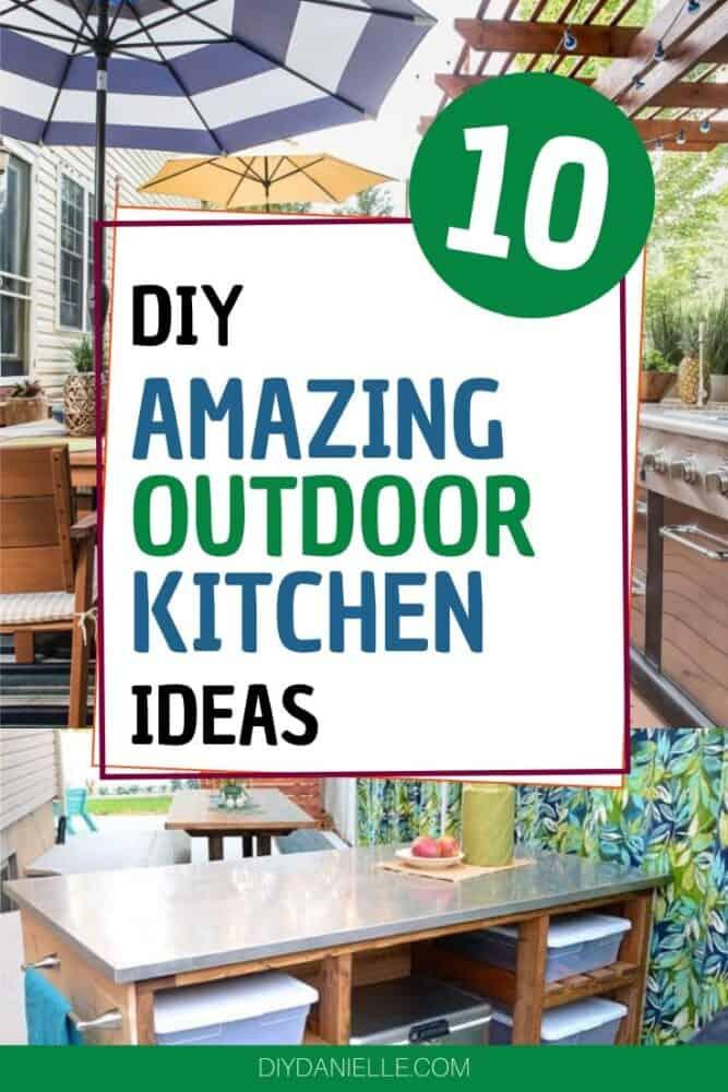 10 DIY outdoor kitchen ideas