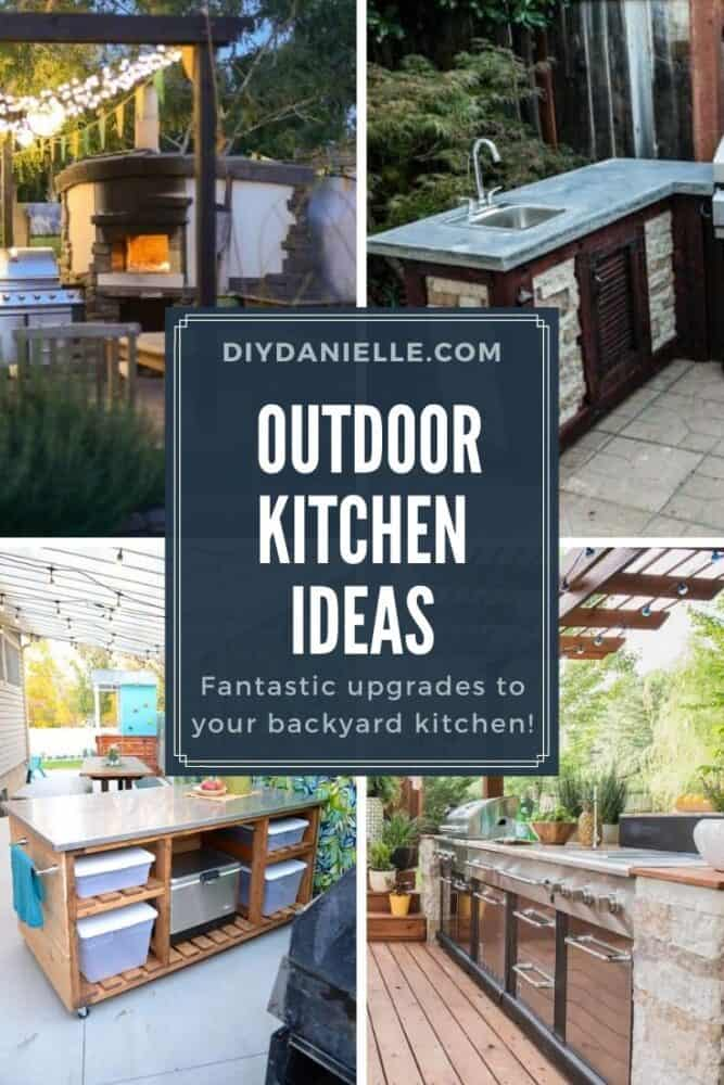 Looking to install an outdoor kitchen? Here are some DIY outdoor kitchen ideas.