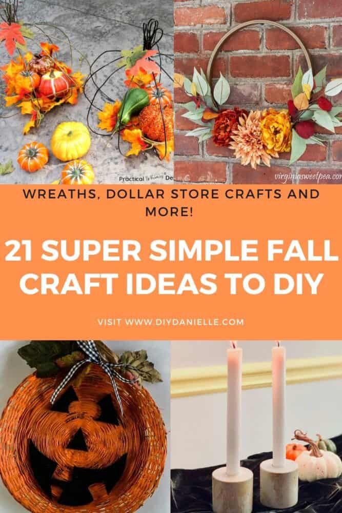 21 simple fall craft ideas to diy pin image
