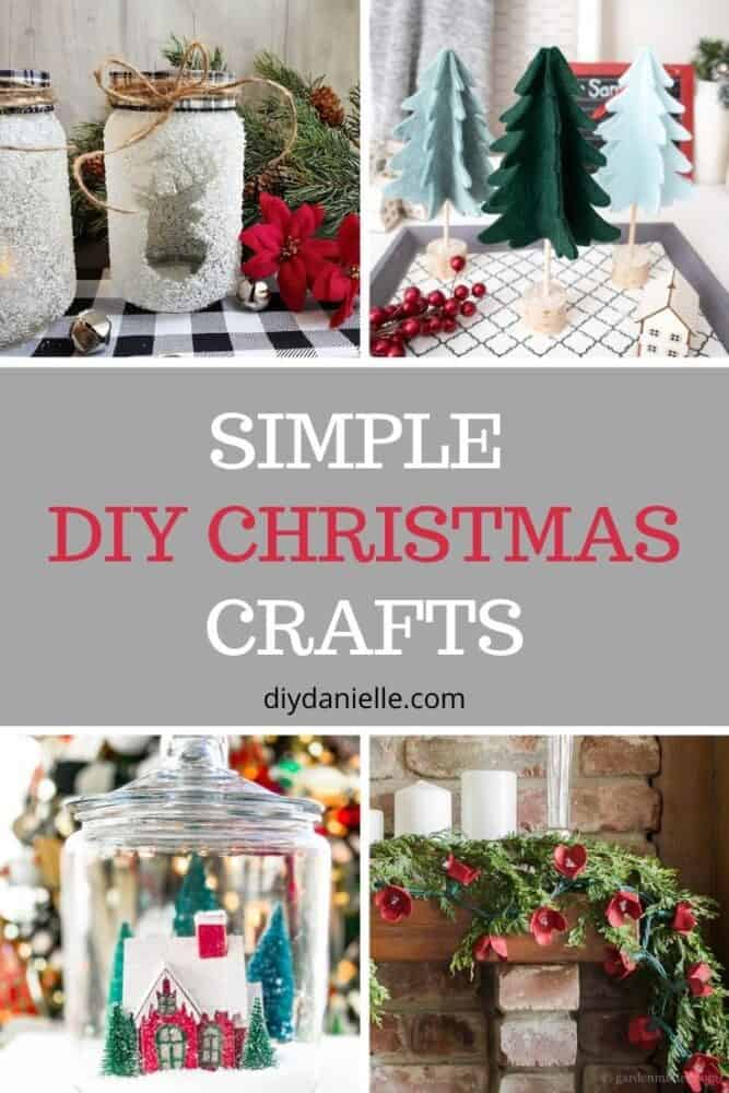 simple diy Christmas crafts pin image