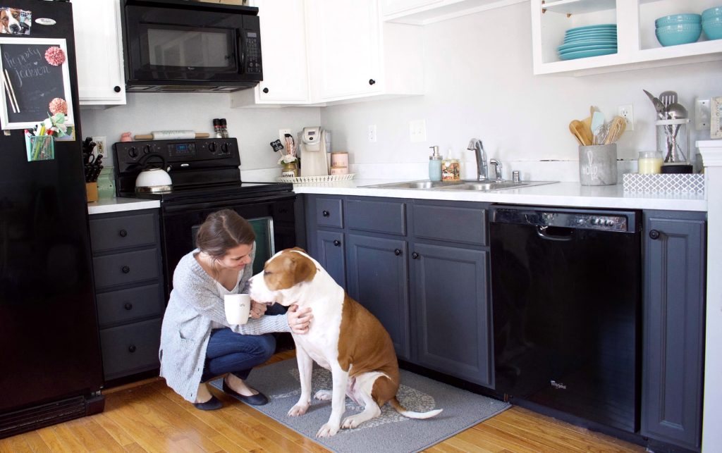 DIY Kitchen Makeover u2013 Part I Painting Kitchen Cabinets & The Best Cabinet Paint for an easy and stress-free DIY kitchen makeover