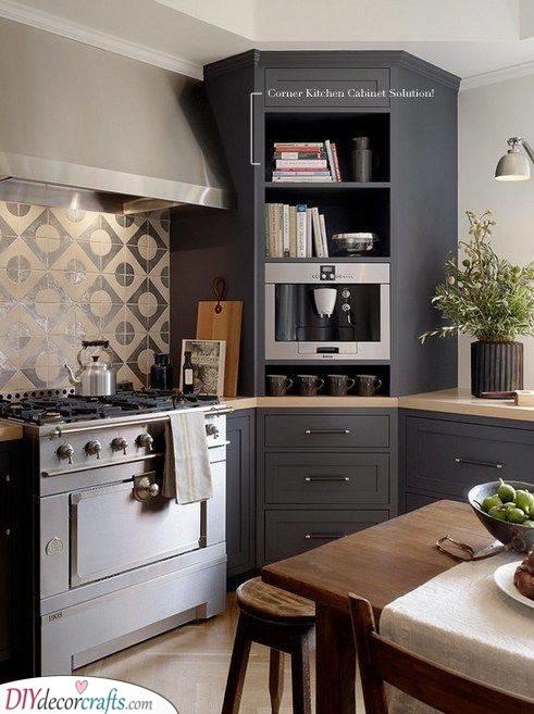 corner kitchen cabinet ideas corner