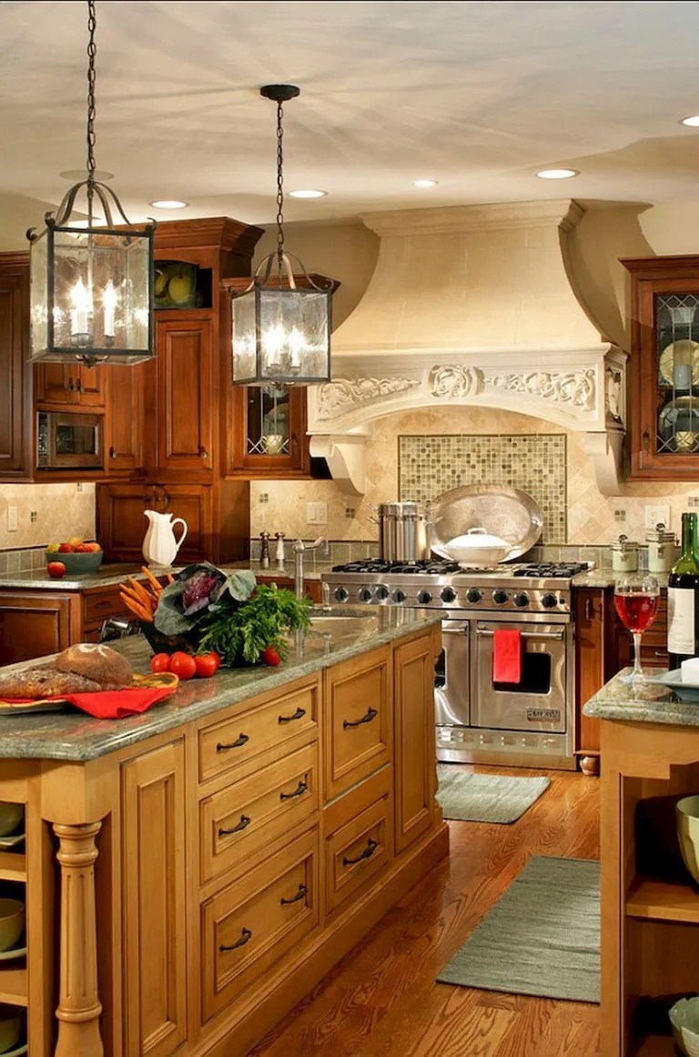 53+ Stunning Rustic Farmhouse Style Kitchen Decorating Ideas