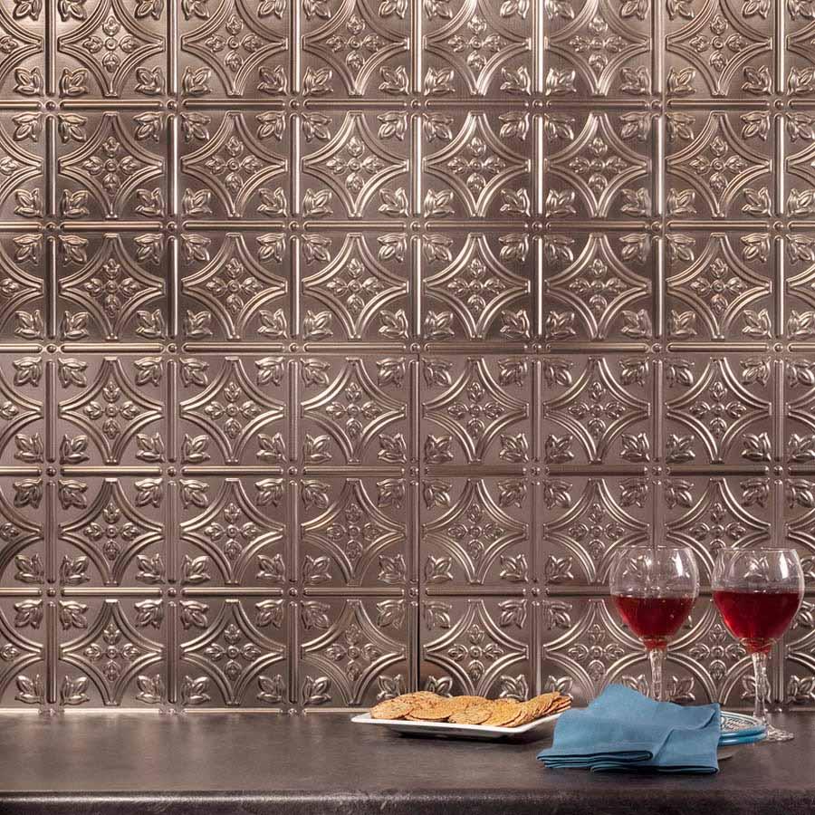 Fasade Backsplash - Traditional 1 in Brushed Nickel