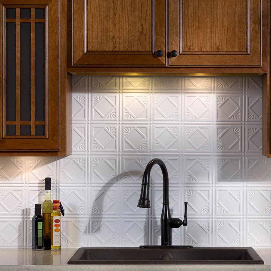 Fasade Backsplash - Traditional 4 in Matte White