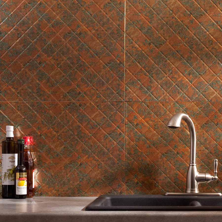 Fasade Backsplash - Quilted in Copper Fantasy