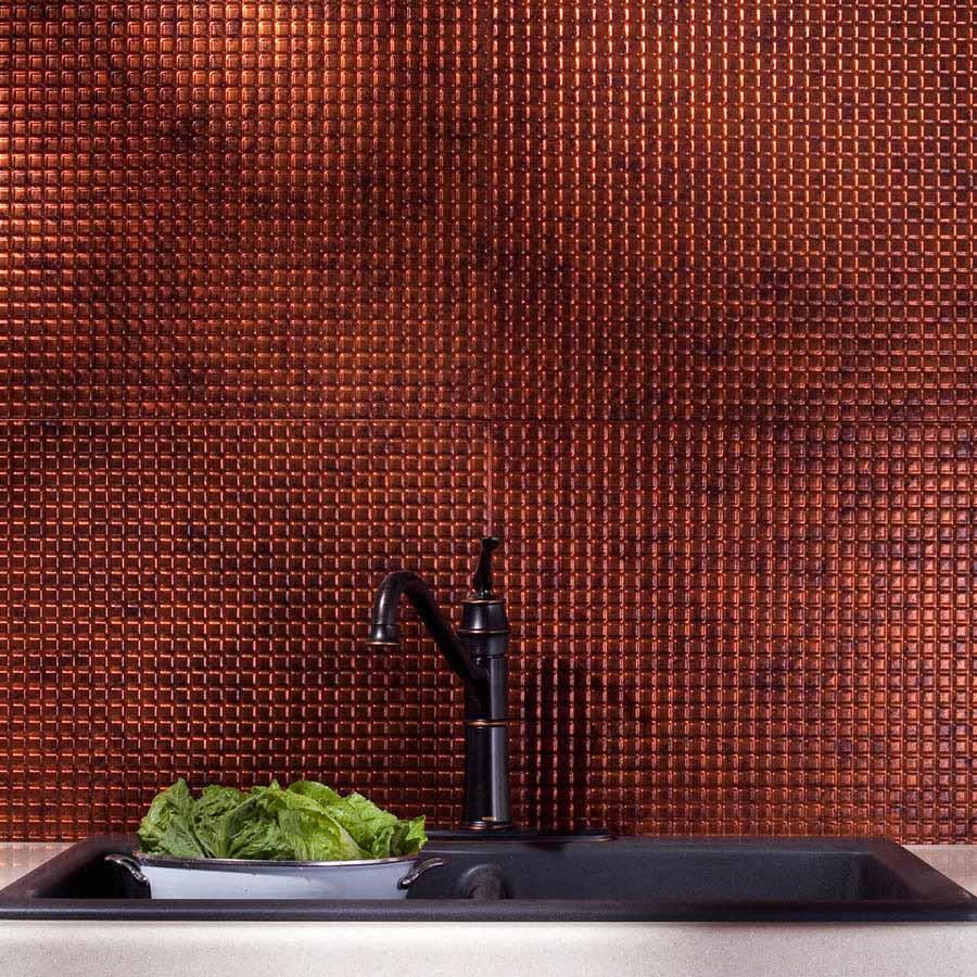 Fasade Backsplash - Square in Moonstone Copper