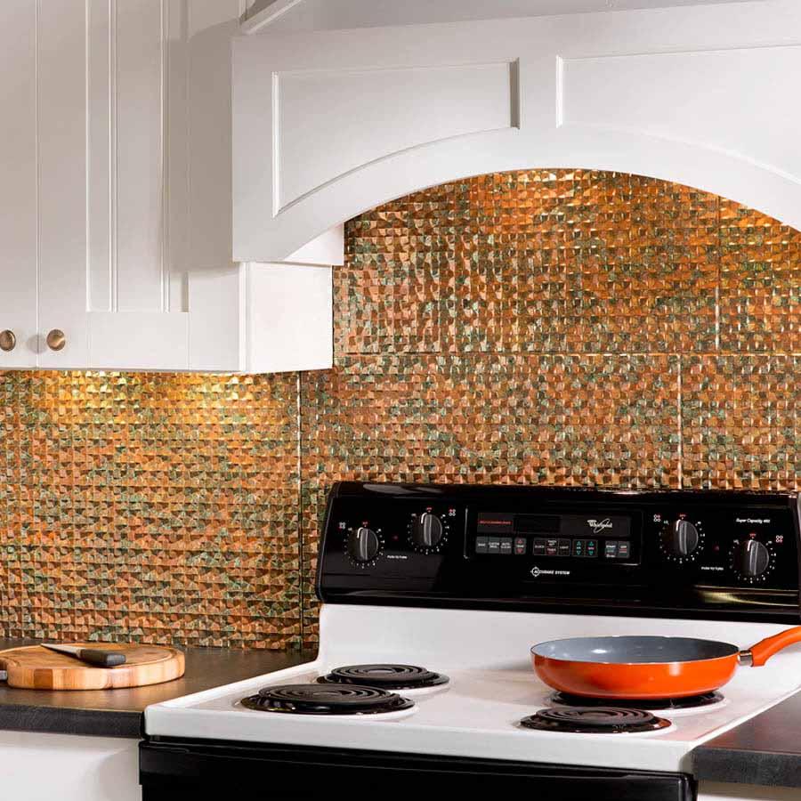 Fasade Backsplash - Terrain in Copper Fantasy
