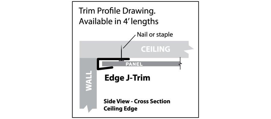 Trim profile drawing