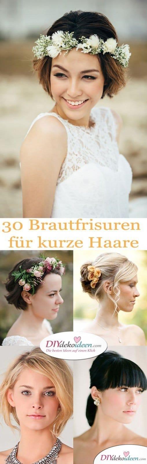 Die 27 Besten Bilder Zu Brautfrisur Kurze Haare Brautfrisur