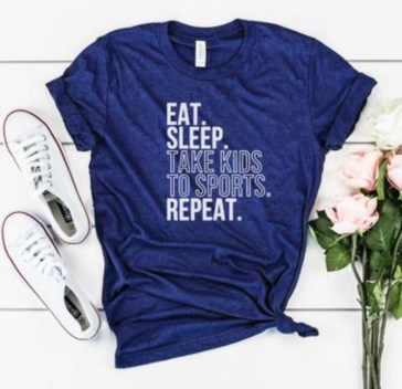 Sports mom tank. Eat, sleep, take kid to sports, repeat.