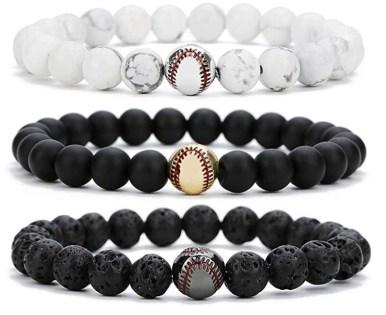 Baseball bead bracelets