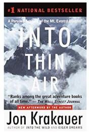 Fall Book List: Into Thin Air
