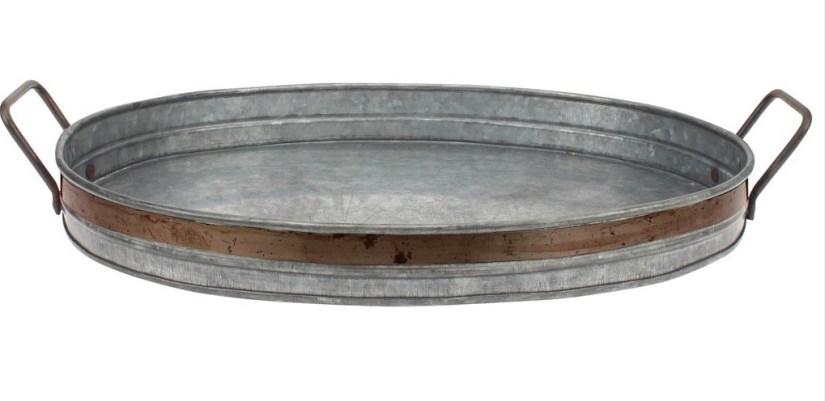 Metal serving tray