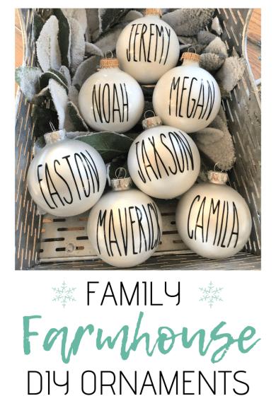 DIY Ornaments Family Farmhouse Style