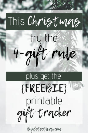 Gift giving with the 4 gift rule + printable!