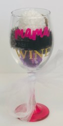 Put wine glass charms in a wine glass.