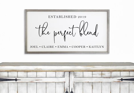 HOme Decor Sign for Blended Families
